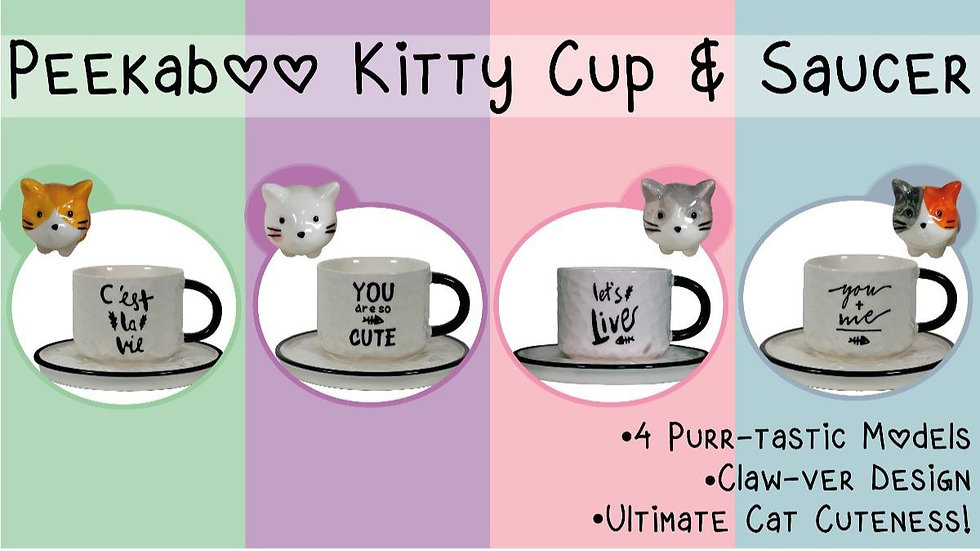 Peekaboo Kitty Cup