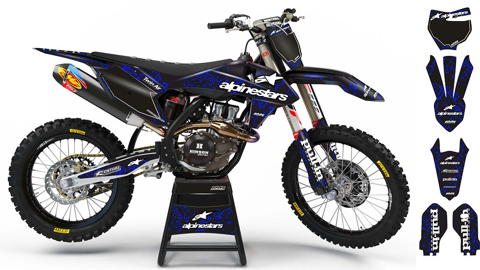"Kit Deco Perso ""ALPINESTARS ADN"" A28BE bleu"