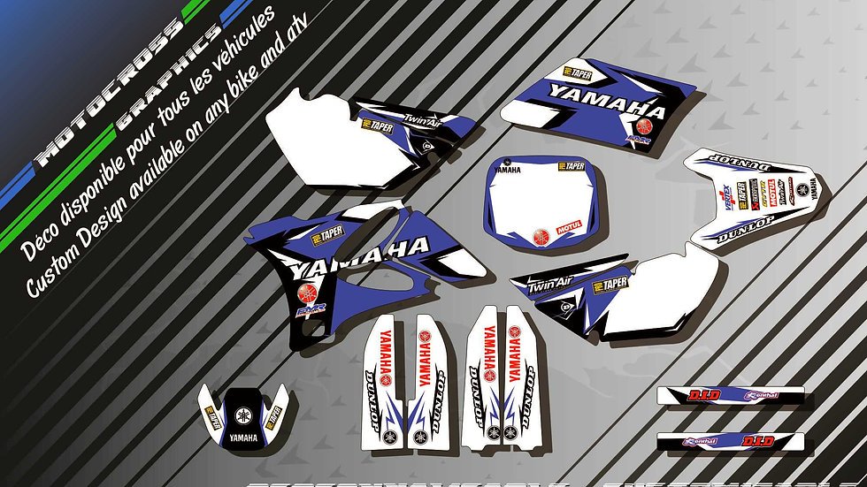 """Factory Replica YAMAHA KA10E"" Kit Déco Perso 85 YZ 01-18"