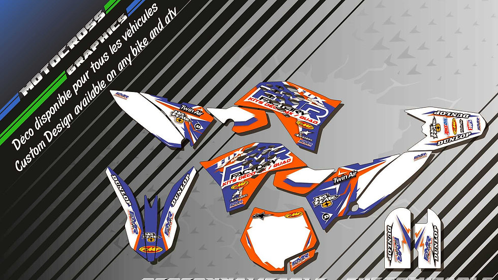 """Fmr Factory CA13C"" Graphic kit KTM 65 SX 01-17"