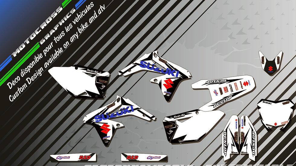 """Factory White Edition KA10DW"" Kit Déco Perso 450 RMz 05-18"