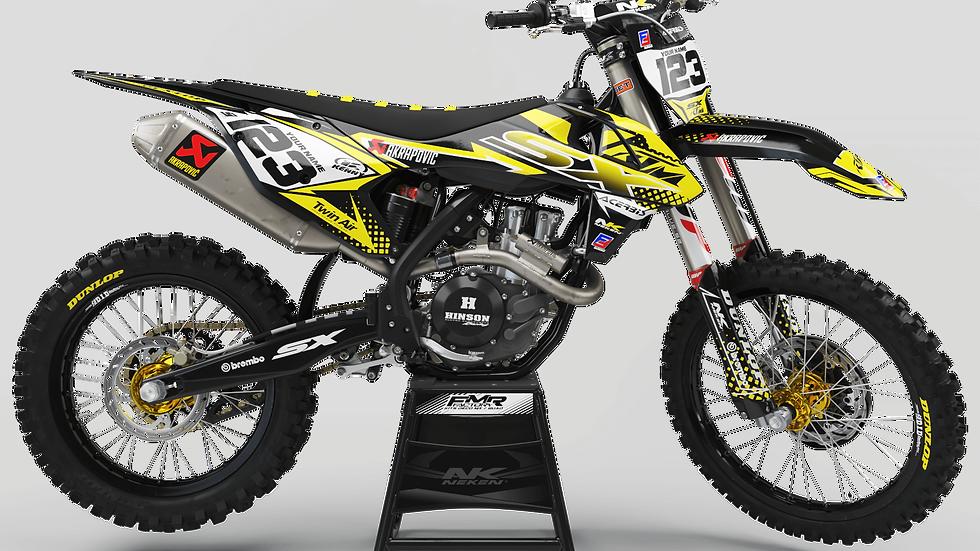 Custom dirt bike Graphics kit ktm FACTORY ENERGY CA33C4 yellow