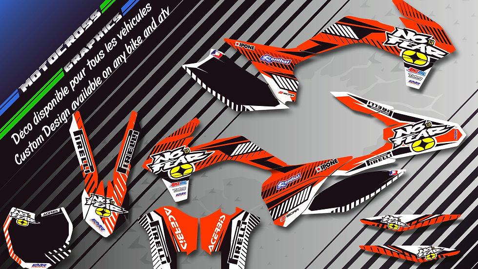 """""""NO FEAR KA5A"""" Kit Déco Perso SX SXF 98-17"""