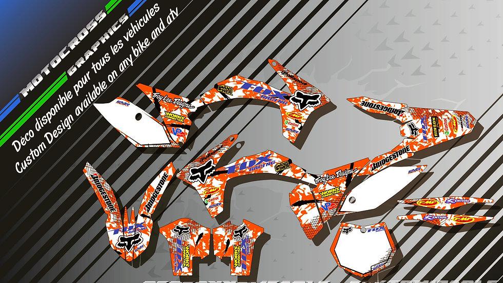 """FOX KA9C"" Kit Déco Perso SX SXF 98-17"