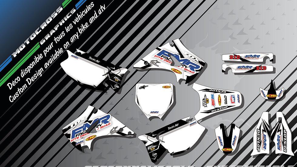"""""""Fmr factory WT Edition CA13WT"""" Graphic kit KAWASAKI KX 125 & 250"""