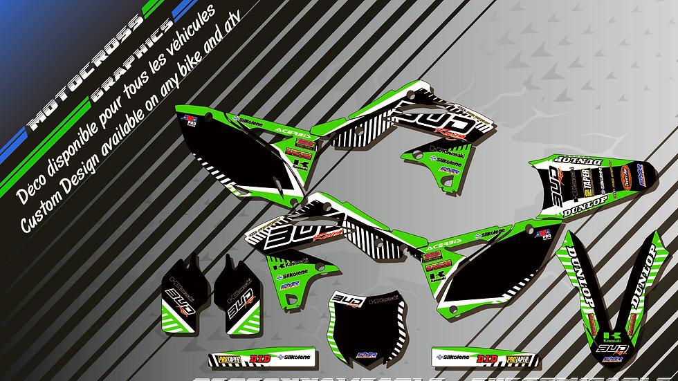 """""""BUD Racing KA12B"""" Kit Déco Perso KXF 250 04-17"""