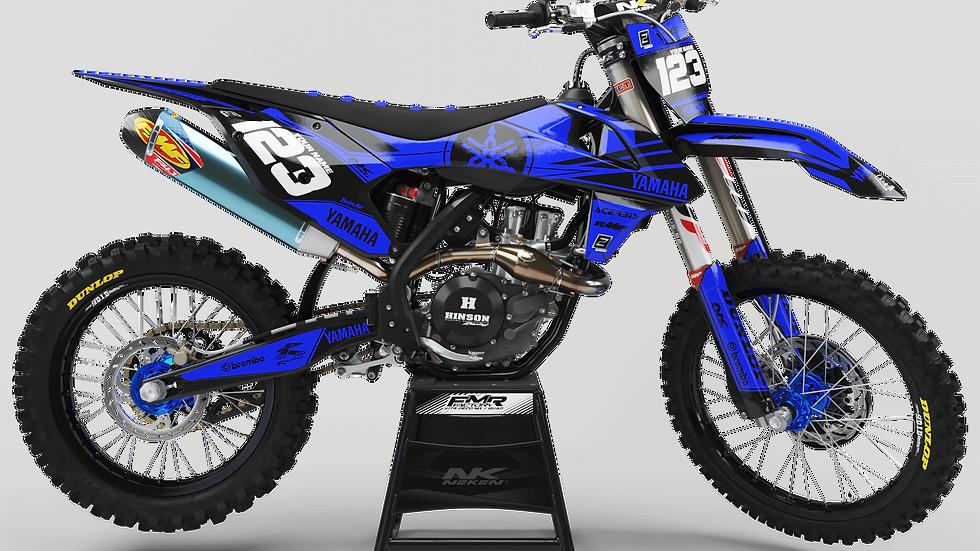 Kit Déco Perso yamaha FACTORY Neken noir/bleu KA32E