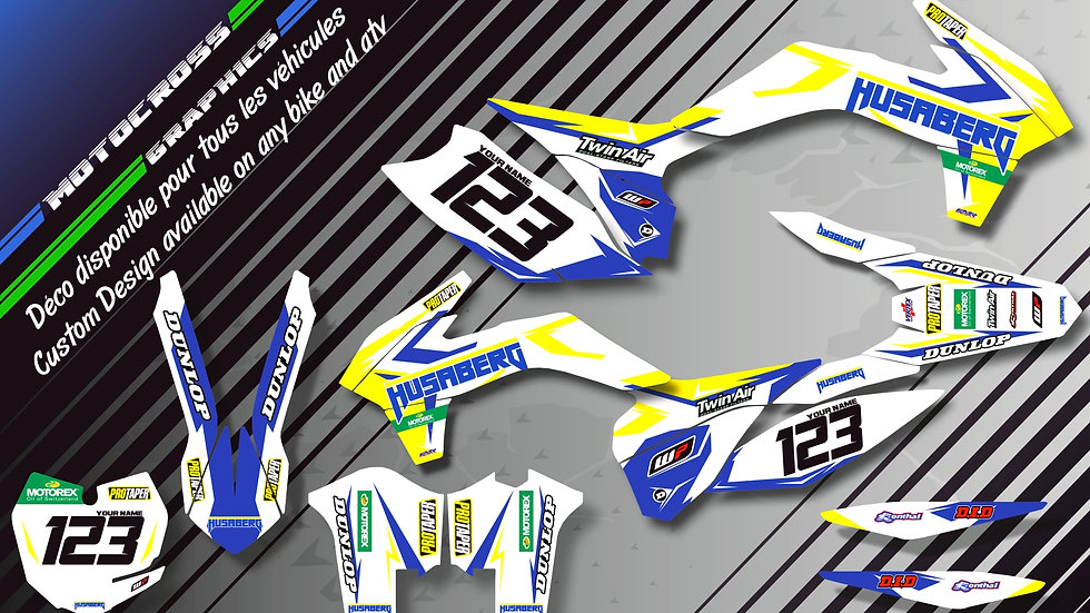 """""""Factory White Edition CA10IW"""" Graphic kit HUSABERG FS Series"""