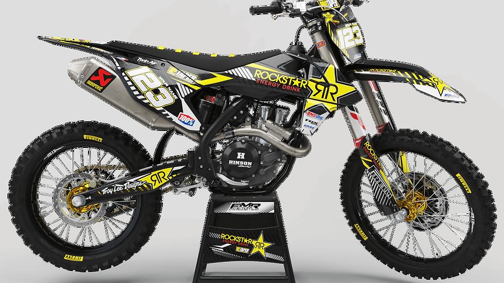 Custom dirt bike Graphics kit ROCKSTAR Limited Edition CA19D yellow