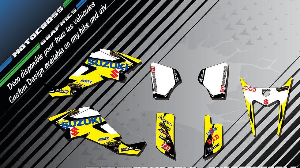 """Factory Replica SUZUKI CA10D"" Graphic kit SUZUKI LTZ 400"
