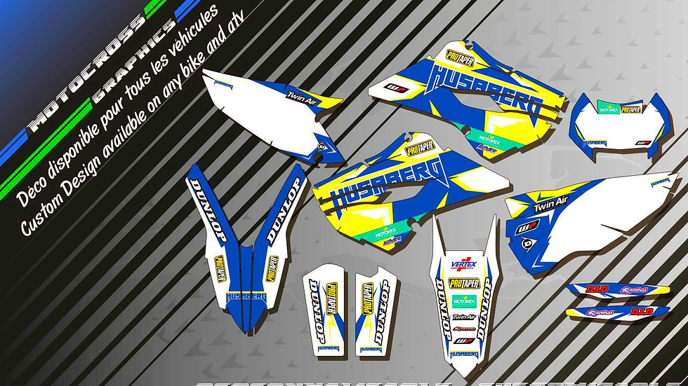 """Factory Replica HUSABERG CA10I"" Graphic kit HUSABERG FE Series"