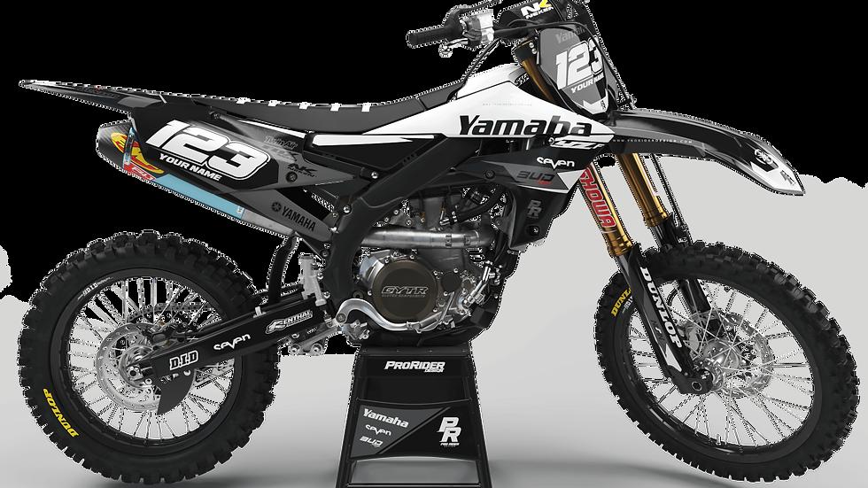Custom dirt bike Graphics kit yamaha YAMAHA BUD RACING BLACK|WHITE