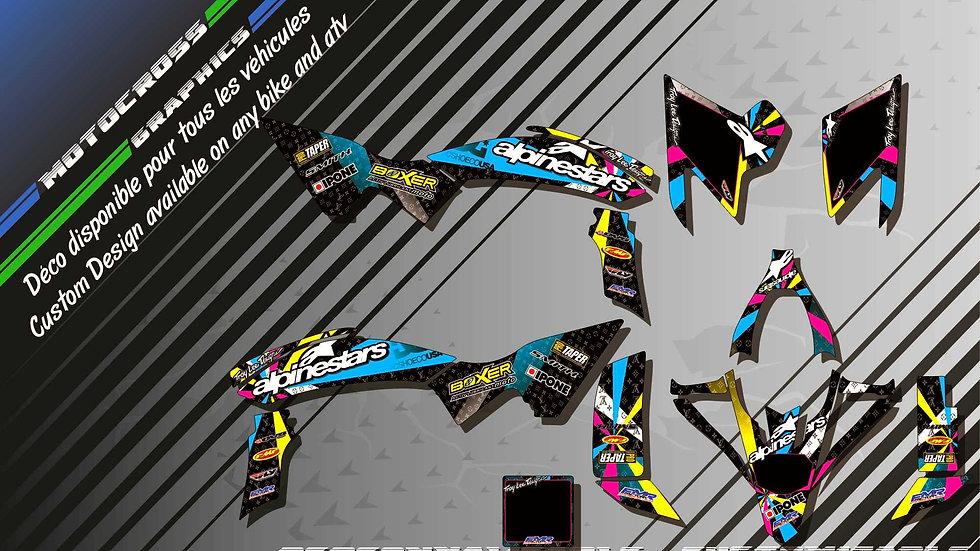 """ALPINESTARS CA4A"" Graphic kit YAMAHA YFz 450 Quad"