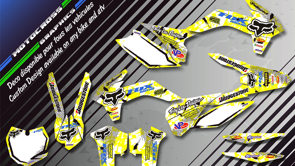 "Custom dirt bike Graphics kit ""FOX CA9D"""