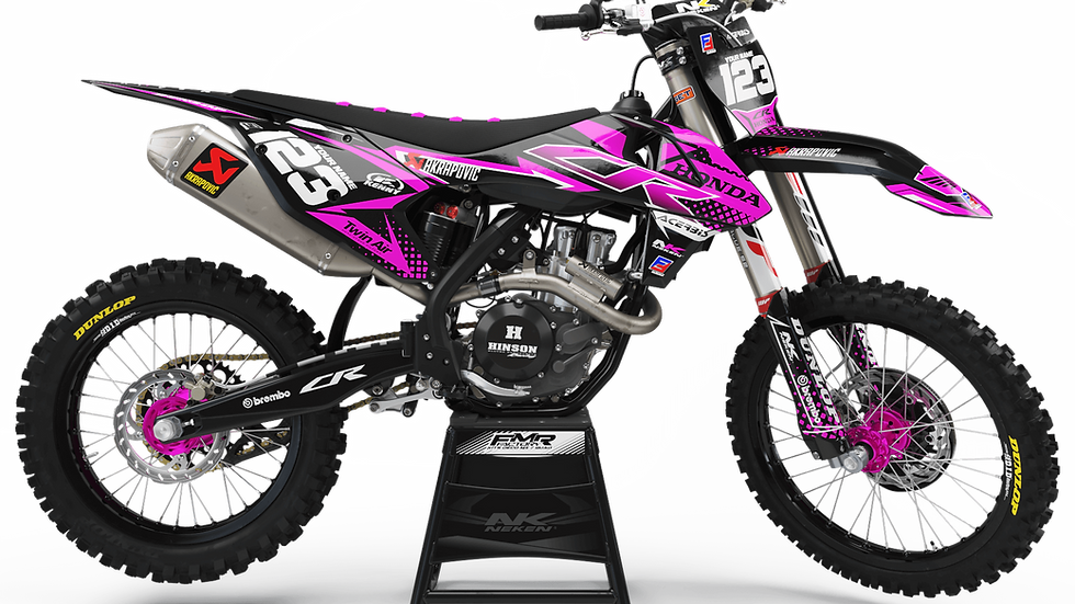 Custom dirt bike Graphics kit HONDA FACTORY ENERGY CA33A3 pink