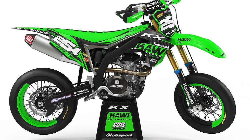 Custom dirt bike Graphics kit KAWASAKI KAWI NEW