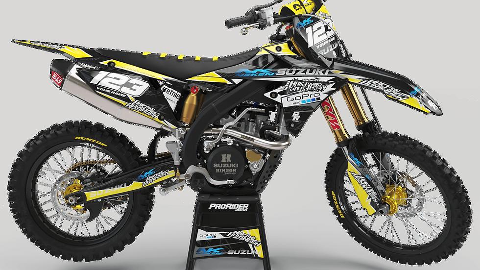 Custom dirt bike Graphics kit SUZUKI GO PRO HART AND HUNTINGTON CA38D