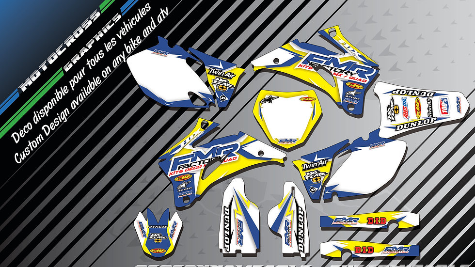 """""""Fmr Factory CA13D"""" Graphic kit YAMAHA YZF 450 426 400 98-17"""