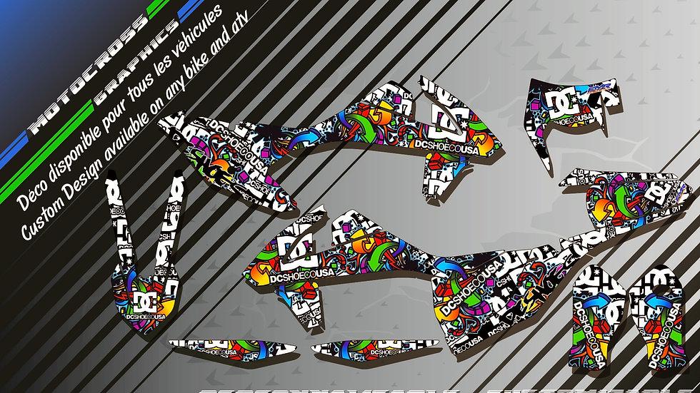 """DC Shoes KA14A"" Kit Déco Perso EXC 97-17"
