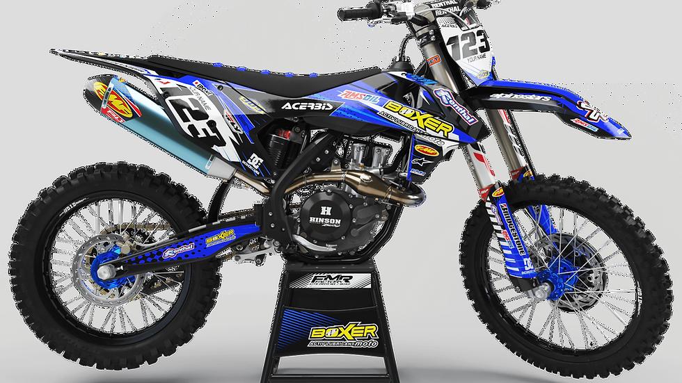 Custom dirt bike Graphics kit BOXER CA1E blue