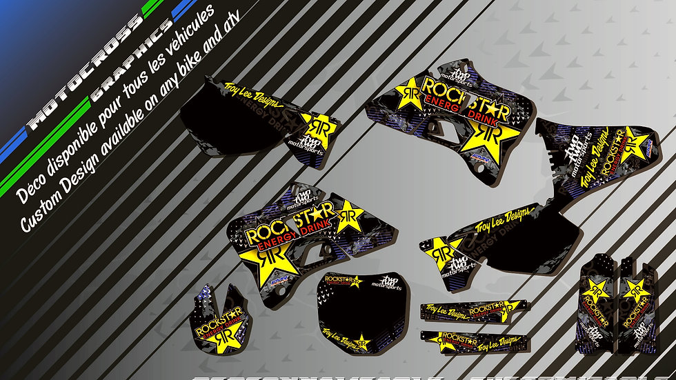 """ROCKSTAR Energy KA16E"" Kit Déco Perso 125 & 250 YZ 93-18"