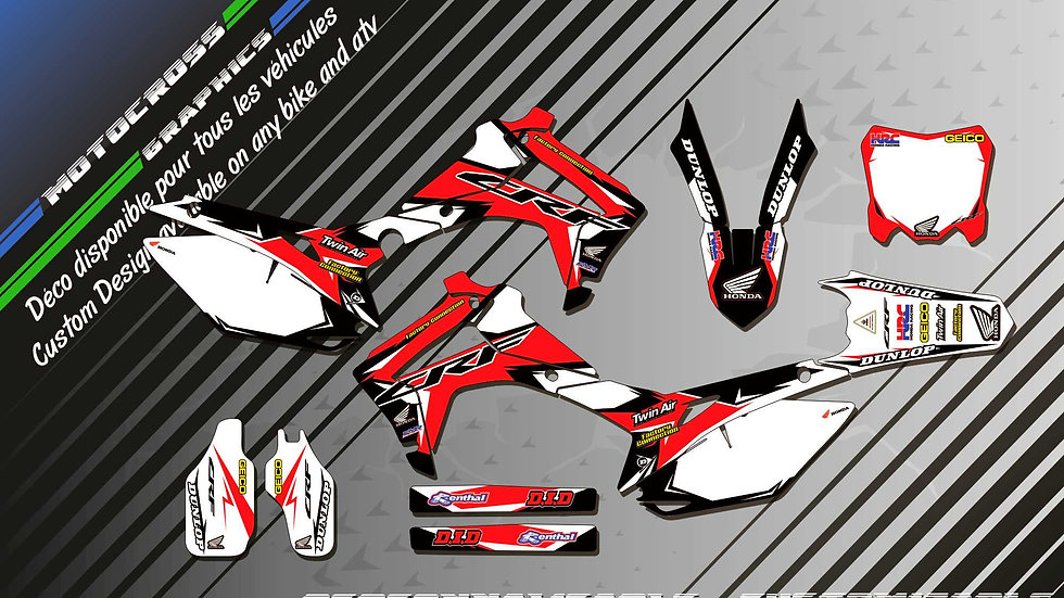 """Factory Replica HONDA CA10A"" Graphic kit HONDA CRF 250R"