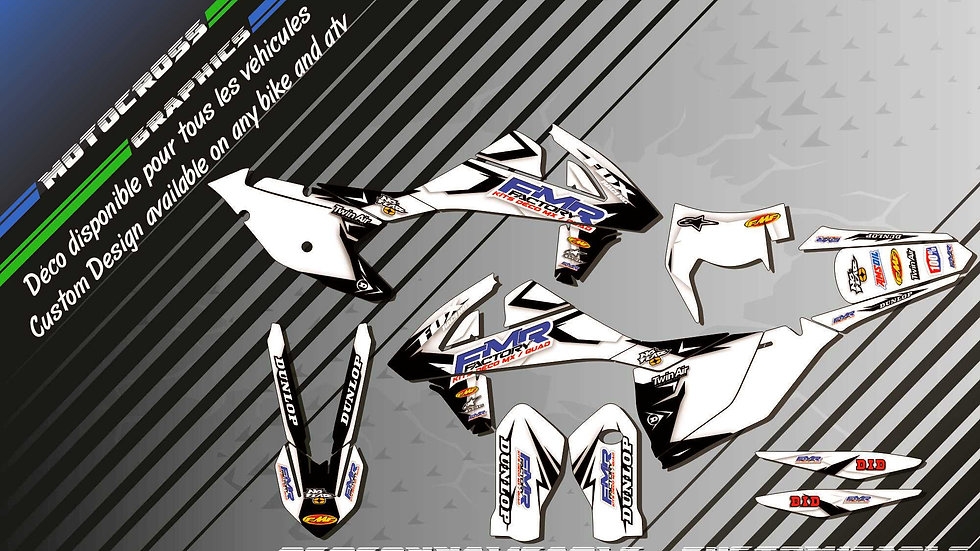 """""""Fmr factory WT Edition CA13WT"""" Graphic kit KTM EXC Series 97-17"""