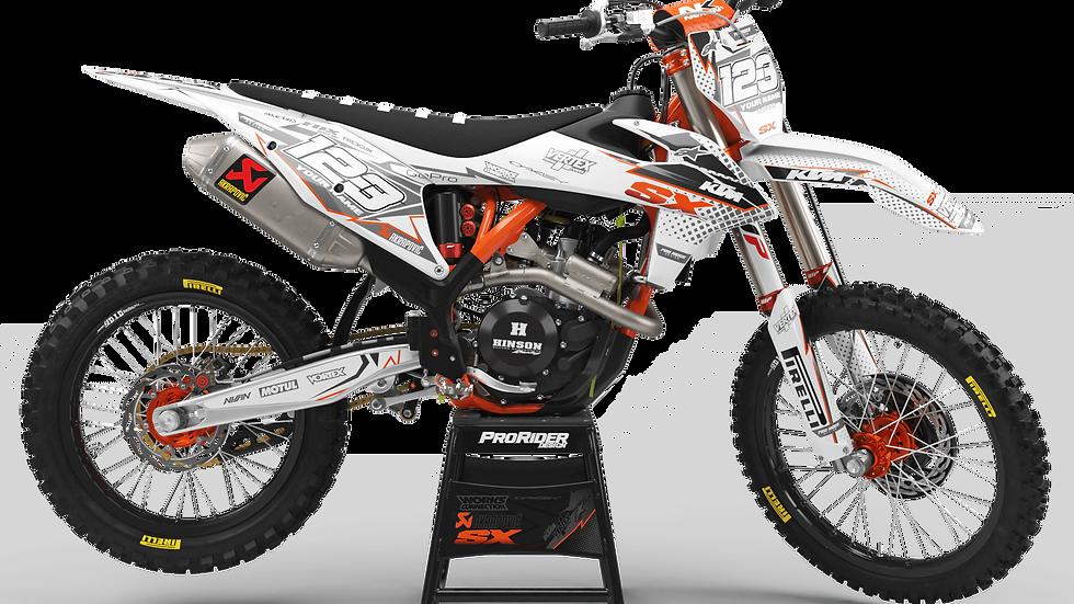 Custom dirt bike Graphics kit KTM VERTEX WHITE CA39C3