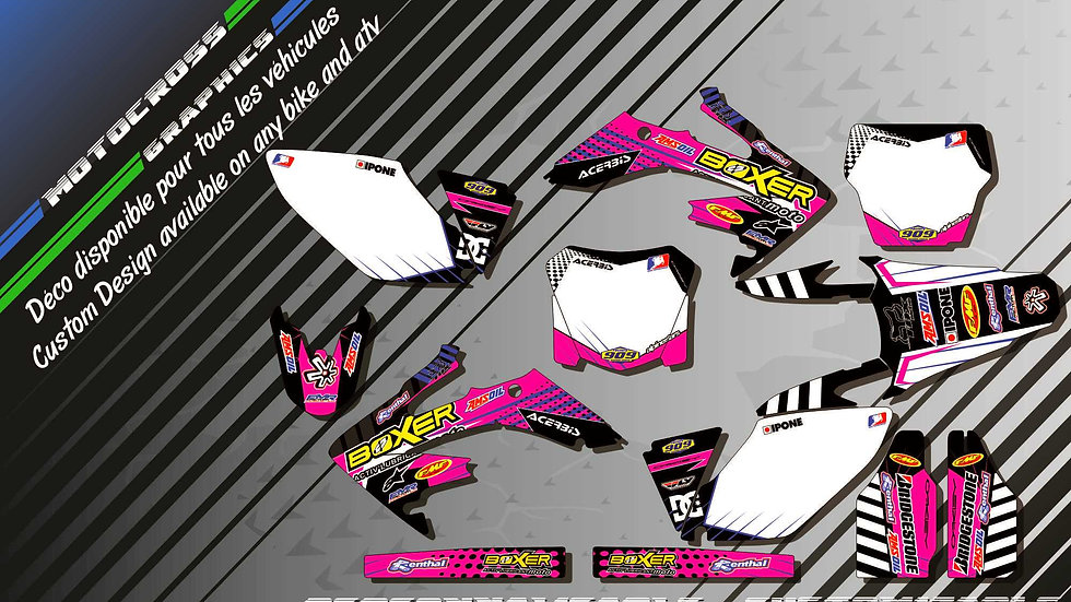 """BOXER CA1F"" Graphic kit HONDA CRF 250R"