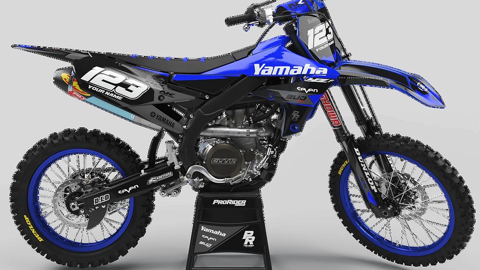 Custom dirt bike Graphics kit yamaha YAMAHA BUD RACING BLACK|BLUE