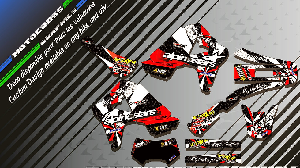 """""""ALPINESTARS KA4C"""" Kit Déco Perso XR 650R 00-09"""