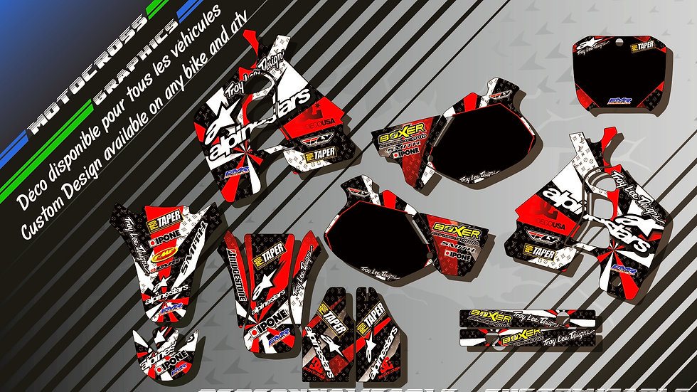 """ALPINESTARS KA4C"" Kit Déco Perso CR 500R 89-01"