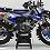 Thumbnail: Custom dirt bike Graphics kit Husqvarna FACTORY ENERGY CA33I2 blue/black