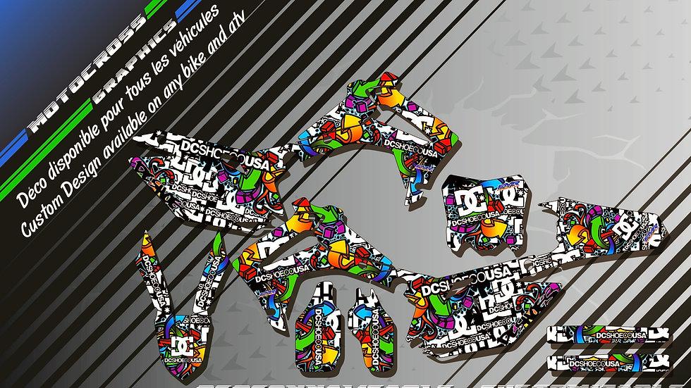 """DC Shoes CA14A"" Graphic kit HONDA CRF 450R 02-18"