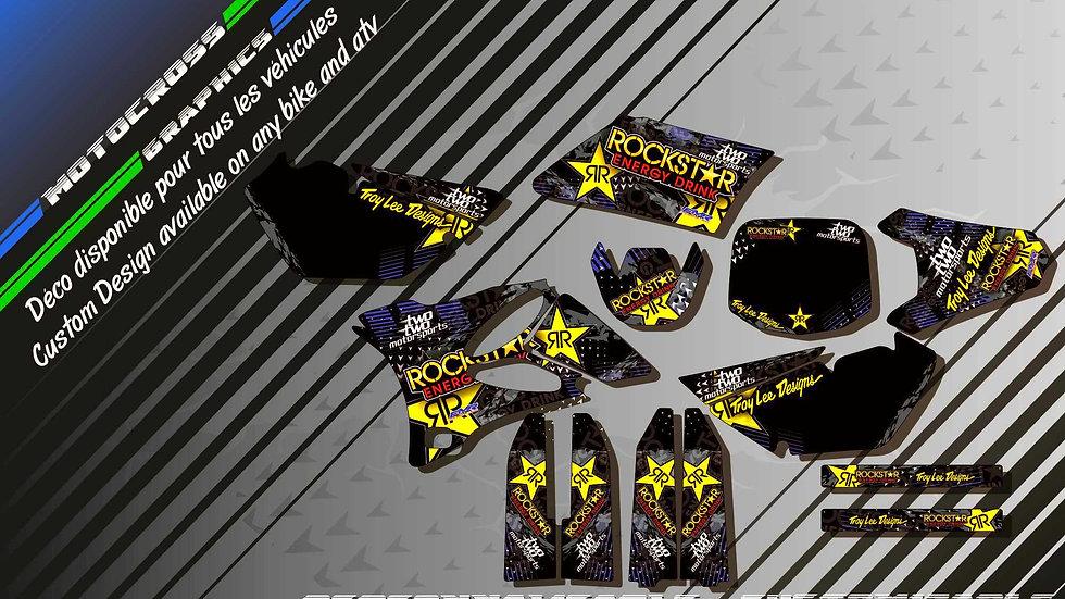 """ROCKSTAR Energy CA16E"" Graphic kit YAMAHA YZ 85"