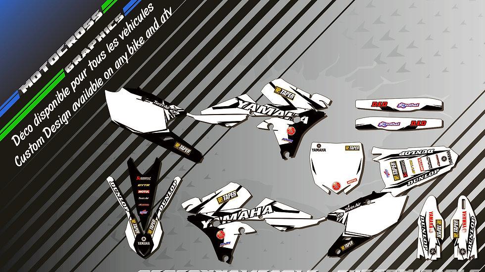 """Factory White Edition CA10EW"" Graphic kit YAMAHA YZF 250 00-17"