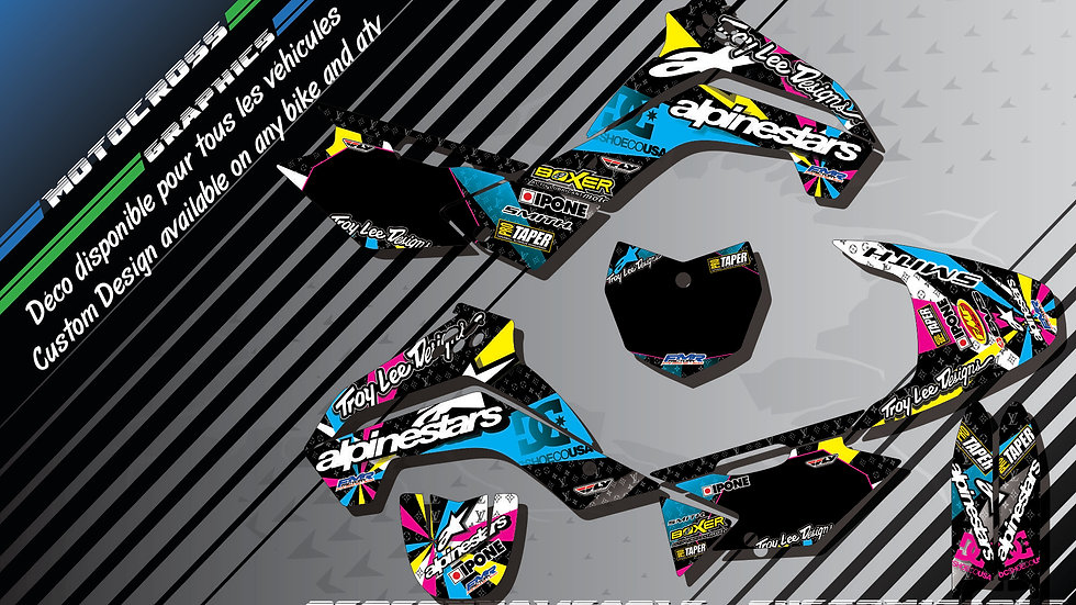 """ALPINESTARS CA4A"" Graphic kit KAWASAKI KLX 140 08-18"