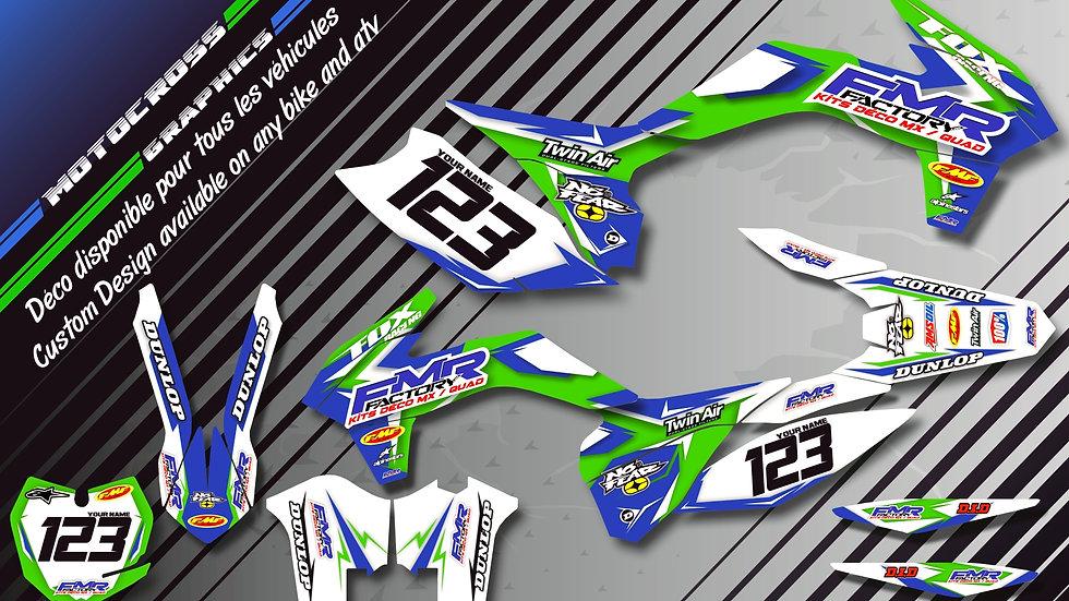 "Custom dirt bike Graphics kit ""Fmr Factory CA13B"""