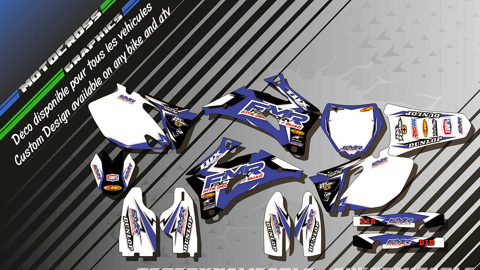 """Fmr Factory CA13E"" Graphic kit YAMAHA YZF 250 00-17"