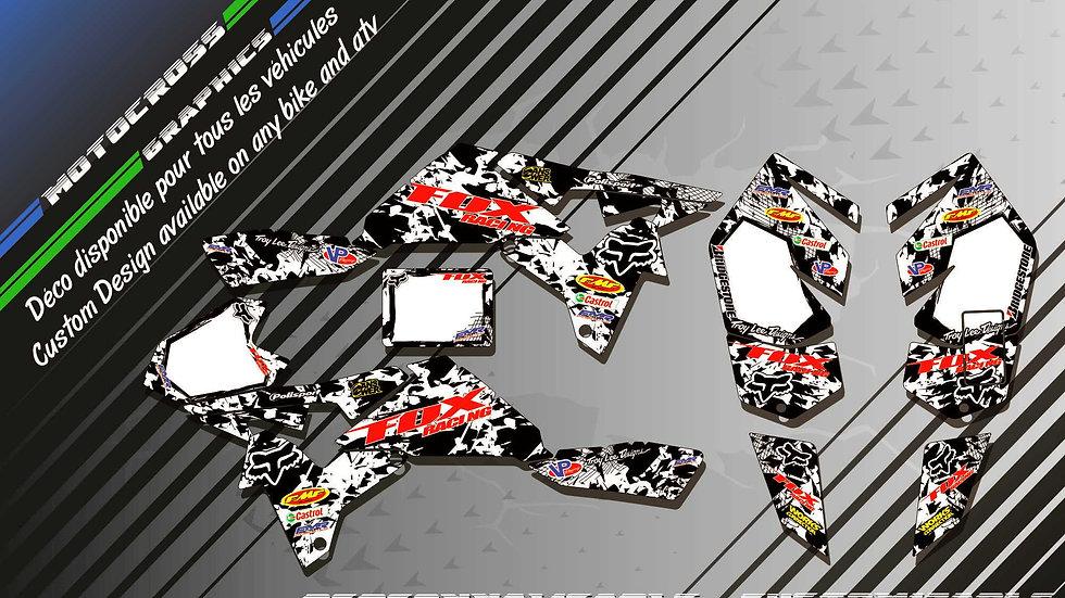 """""""FOX CA9F"""" Graphic kit SUZUKI LTR 450"""