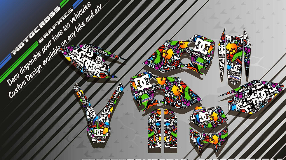"""""""DC Shoes CA14A"""" Graphic kit HUSABERG FE Series"""