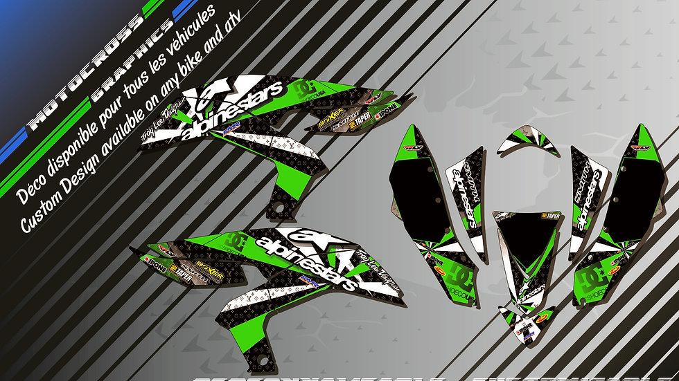 """ALPINESTARS KA4B"" Kit Déco Perso KFX 450 06-16 Quad"