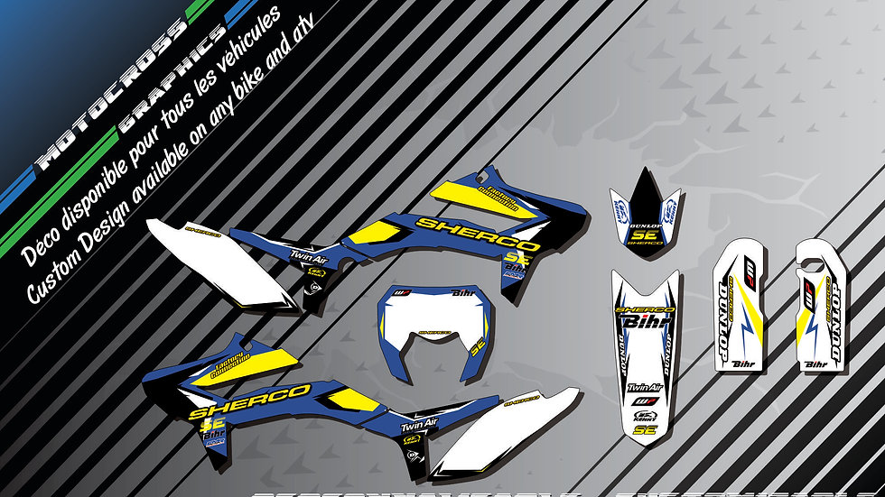 """Factory Replica SHERCO CA10F"" Graphic kit SHERCO SE Series"