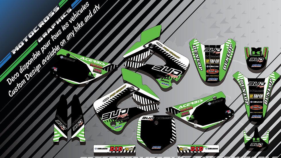 """BUD Racing CA12B"" Graphic kit KAWASAKI KX 85"