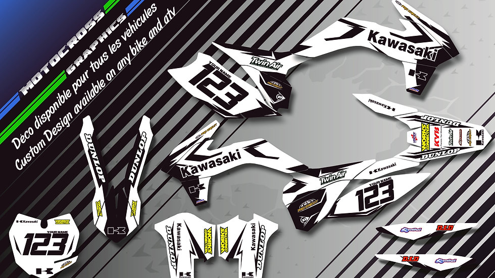 """Factory White Edition KA10BW"" Kit Déco Perso KX 65 00-16"