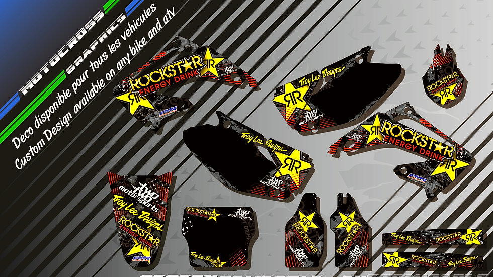 """ROCKSTAR Energy CA16A"" Graphic kit HONDA CR 125 & 250"