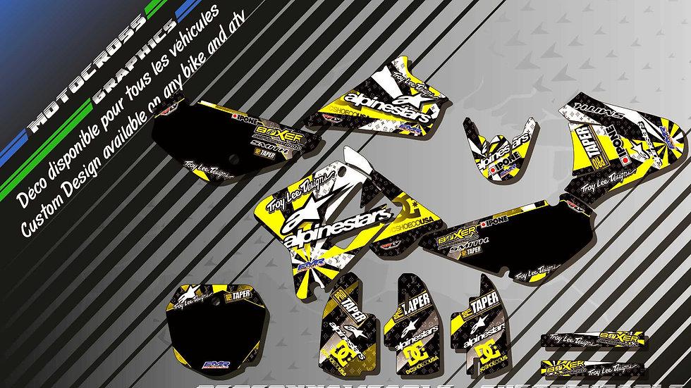 """ALPINESTARS CA4E"" Graphic kit SUZUKI RM 85"