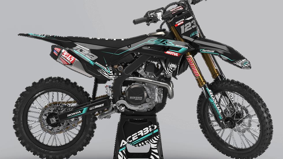 Custom dirt bike Graphics kit HONDA MOTUL TEAL