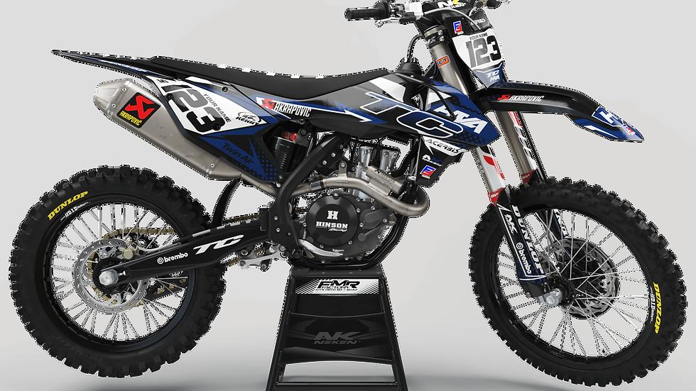 Custom dirt bike Graphics kit Husqvarna FACTORY ENERGY CA33I blue