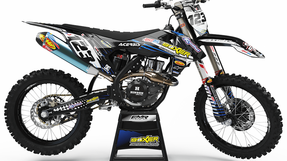 Custom dirt bike Graphics kit BOXER CA1H black